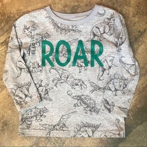 Toddler boy dinosaur long sleeve T-shirt